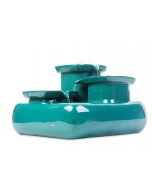 Keramieken Drinkfontein Seawave Blauw/Groen