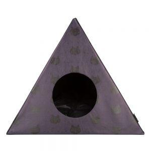 District 70 Triangle Kattenhuis Donker Grijs