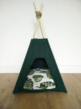 Lifestyle Cat Katten Tipi Fleece Groen