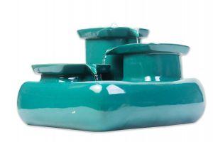 Miaustore Keramieken Drinkfontein Seawave Blauw/Groen